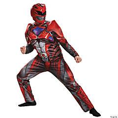 Men's Muscle Red Ranger Costume - Standard