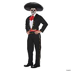 Men's Skull Mariachi Costume - Standard