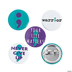 Mental Health Awareness Semicolon Mini Buttons