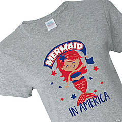 Mermaid in America Youth T-Shirt - Large