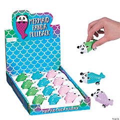 Mermaid Panda Pull-Back Toys