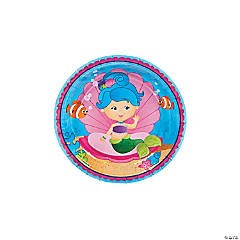Mermaid Party Paper Dessert Plates - 8 Ct.