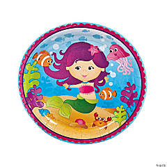 Mermaid Party Paper Dinner Plates - 8 Ct.