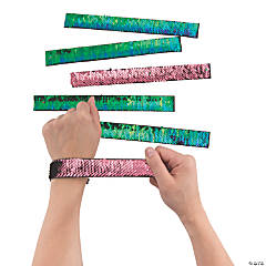 Mermaid Reversible Sequin Slap Bracelets