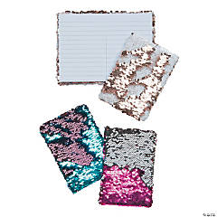 Mermaid Scale Flipping Sequin Notebook Assortment