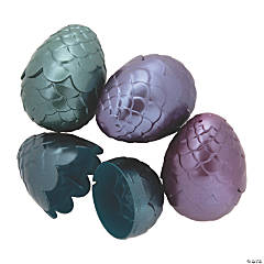 Mermaid Scale Plastic Easter Eggs - 12 Pc.