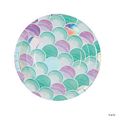 Mermaid Sparkle Bubbles Paper Dinner Plates - 8 Ct.