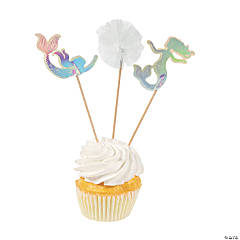 Mermaid Sparkle Cupcake Picks