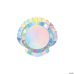 Mermaid Sparkle Paper Dessert Plates - 8 Ct.