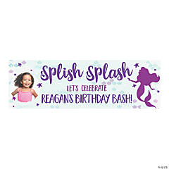 Mermaid Sparkle Party Photo Custom Banner - Small