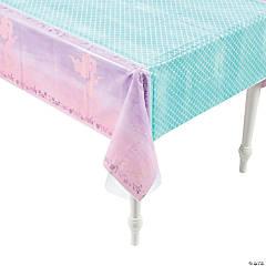 Mermaid Sparkle Plastic Tablecloth