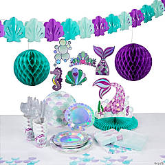 Mermaid Sparkle Tableware Kit for 16 Guests