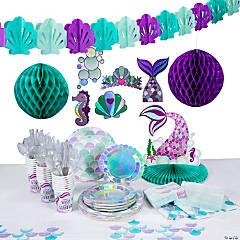 Mermaid Sparkle Tableware Kit for 24 Guests