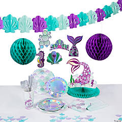 Mermaid Sparkle Tableware Kit for 8