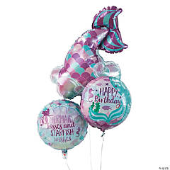 Mermaid Sparkle Tail Mylar Balloons