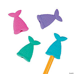 Mermaid Tail Eraser Pencil Toppers - 24 Pc.