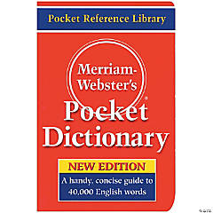 Merriam Websters Pocket Dictionary - Qty 3