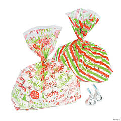 Merry Christmas Treat Bags with Ties