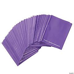 MessageStor® 2-Pocket Parent-Teacher Connection Folder 36-Pack - Purple