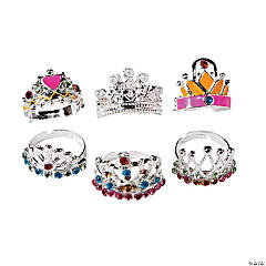 Metal Adjustable Princess Crown Rings