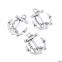 Metal Anchor Charms - 29mm