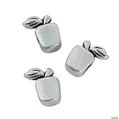 Metal Apple Large Hole Beads - 12mm