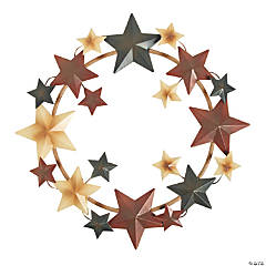 Metal Barn Star Americana Wreath