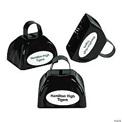 Metal Black Personalized Cowbells