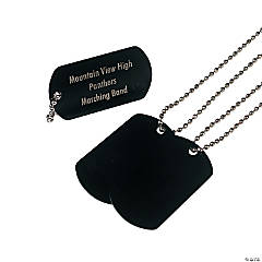Metal Black Personalized Dog Tag Necklaces