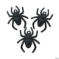 Metal Black Spider Charms - 25mm x 29mm