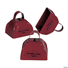 Metal Burgundy Personalized Cowbells