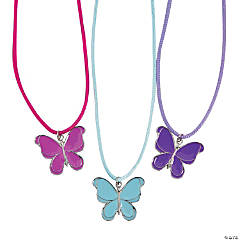 Metal Butterfly Necklaces