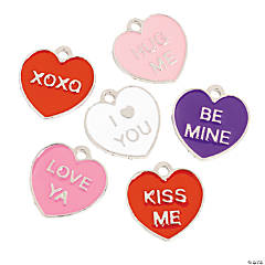 Metal Candy Heart Charms