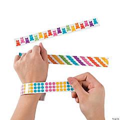Metal Candy Stripe Slap Bracelets