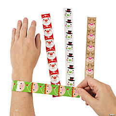 Metal Cheery Christmas Slap Bracelets