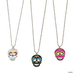 Metal Day of the Dead Necklaces
