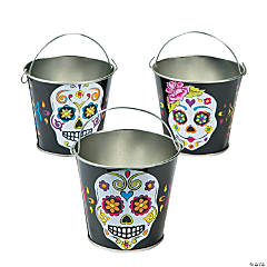 Metal Day of the Dead Pails