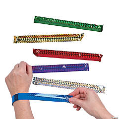 Metal Diamond Metallic Slap Bracelets