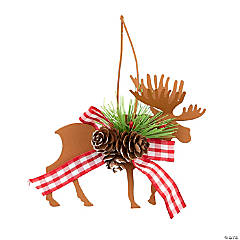 Metal Die Cut Moose & Deer Christmas Ornaments