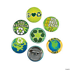 Metal Earth Day Recycle Mini Buttons