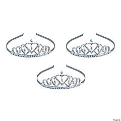 Metal Faux Pearl Drop Tiara