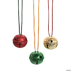 Metal Frosted Jingle Bell Necklaces