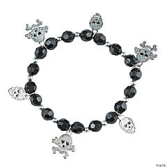 Metal Glitter Skull Bracelet Craft Kit