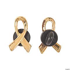 Metal Gold Ribbon Pins