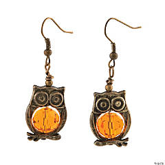 Metal Goldtone Owl Earring Kit