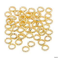 Metal Goldtone Rings - 6mm