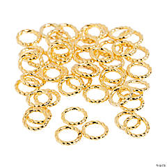 Metal Goldtone Rings - 8mm