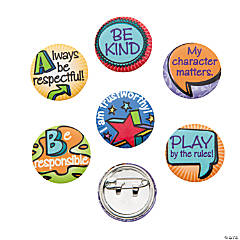 Metal Good Character Mini Buttons