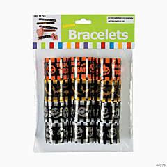 Metal Halloween Reflective Slap Bracelets