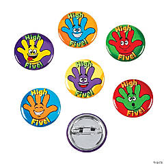 Metal High Five Mini Buttons